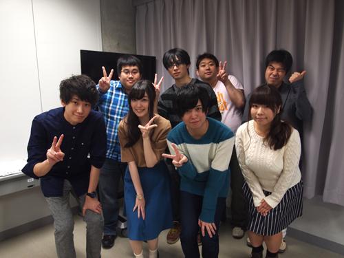 イベント終了後にゲストの皆さんと、脚本を書いた学生、ディレクターの斉藤先生で記念写真を撮影。